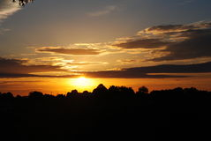 Warme zonsondergang Stock Fotografie