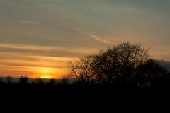 Warme zonsondergang Stock Afbeelding
