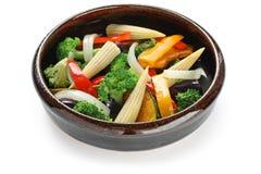 Warmer Gemüsesalat Lizenzfreies Stockfoto