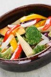 Warmer Gemüsesalat Lizenzfreie Stockbilder