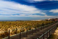 Warmer Morgen bei Espinho, Portugal Lizenzfreies Stockfoto