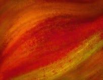 Warmer roter Orangen- und Goldhintergrund entwerfen mit Schmutzbeschaffenheit und gewelltem Material Lizenzfreie Stockfotos