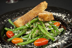 Warmer Salat der grünen Bohne Lizenzfreies Stockbild