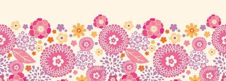 Warmer Sommer pflanzt horizontales nahtloses Muster Stockbild