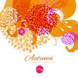 Warmer und kalter Herbst färbt orientierten Spitzenhintergrund Lizenzfreies Stockbild