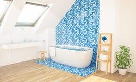 warmes Badezimmer auf Dachboden lizenzfreies stockfoto