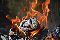 Warmes Feuer Lizenzfreie Stockfotos