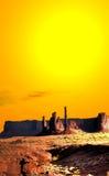 Warmes Himmel-Monument-Tal Stockfotos