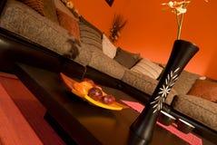 Warmes orientalisches Artwohnzimmer Stockfotos