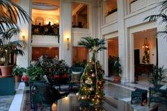Warmes und freundliches Bild des Raumes verziert für Weihnachten, George Eastman House Museum, Rochester, New York, 2017 Lizenzfreie Stockfotografie