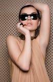 Warmes weibliches Portrait Lizenzfreie Stockfotografie