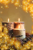 Warmes Winter-Glühen Stockbild