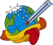 Warming. Vector illustration of Global warming Royalty Free Stock Images