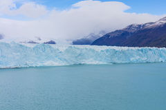 The global warming problem. The warming of the atmosphere affects large frozen water supplies and leads to disappearing glaciers and sea level rise Royalty Free Stock Photos