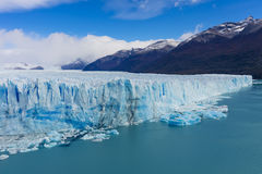 The global warming problem. The warming of the atmosphere affects large frozen water supplies and leads to disappearing glaciers and sea level rise Stock Images