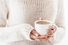 Warming cup of coffee Stock Images