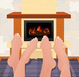 Warming feet Royalty Free Stock Photography