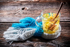 Warming linden tea for cold evenings Stock Photo