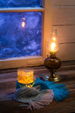Warming tea is the best cure for cold evening Royalty Free Stock Photography