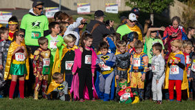 Warming up for The CASA Superhero Race Royalty Free Stock Photos