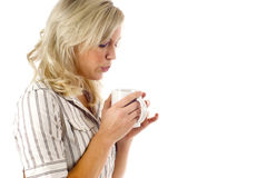 Warming Up with Coffee Stock Photography