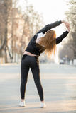 Warming up before morning jogging Royalty Free Stock Photography