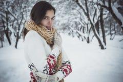 Warmly dressed European girl Royalty Free Stock Photo