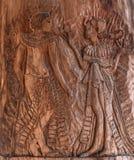 warmongering的 埃及题材和剧情 墙壁,装饰 免版税库存图片