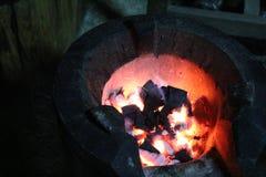 Warmte op het fornuis in koele vallei Stock Foto