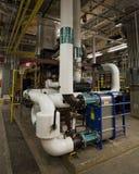 Warmtewisselaar op 2.5 megawattgenerator royalty-vrije stock fotografie