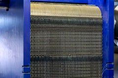 Warmtewisselaar in systeem van warm waterlevering in industriële boile royalty-vrije stock afbeelding