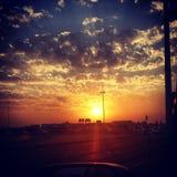 Warmth sunset Stock Photos