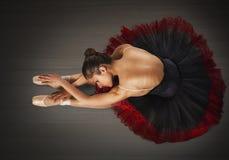 Warmup classical dancer Stock Photo