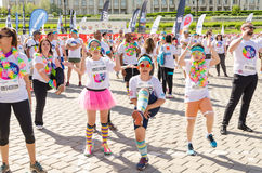 Warmups for The Color Run Royalty Free Stock Images