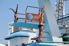 Warmups do mergulho antes dos finais fotos de stock royalty free