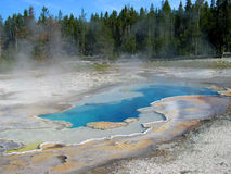 Warmwaterbronnen in yellowstone Nationaal Park stock foto's