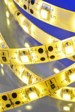 Warmwhite LED-stripe Royalty Free Stock Photography