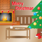 Warn Christmas setup, full vector. Royalty Free Stock Images