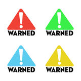 Warned signs Stock Photo