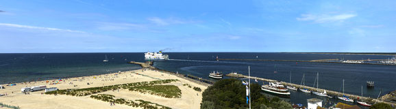 Warnemünde Germany view lighttower Royalty Free Stock Images