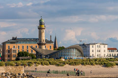 Warnemuende skyline Royalty Free Stock Image