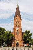 WARNEMUNDE, GERMANY - CIRCA 2016: Warnemünde Church is a neogothic building in Warnemünde. Which is a part of the hanseatic city of Rostock Royalty Free Stock Image