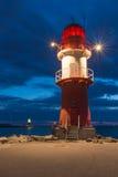 Warnemunde-Leuchtturm Stockbild