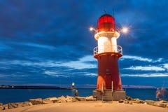 Warnemunde-Leuchtturm Stockfotos