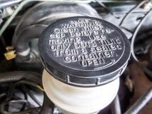Warnen auf Öltank Lizenzfreies Stockbild