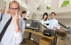 Warnen im Büro Stockfotografie