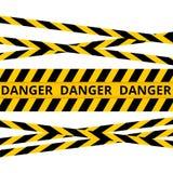 Warnen Sie die lokalisierten Linien, warnende Bänder, Warnschilder vektor abbildung