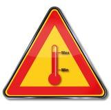 Warnen von Temperaturschwankungen und Überhitzung vektor abbildung