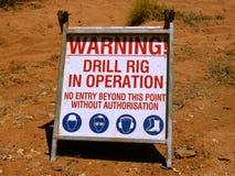 Warnende Ölplattform in Kraft Lizenzfreies Stockbild