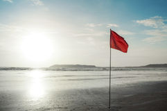 Warnende rote Fahne Lizenzfreies Stockfoto
